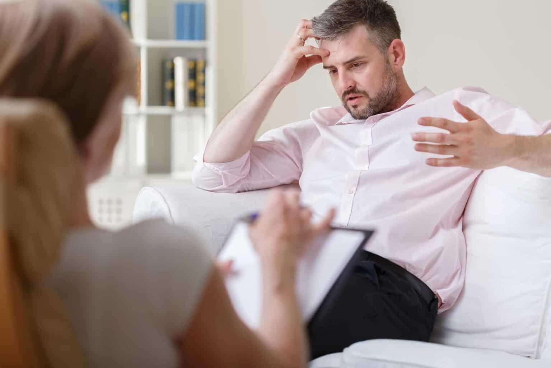 Homme en psychothérapie