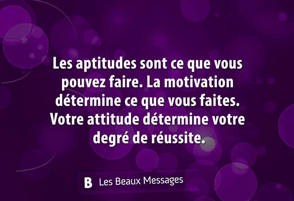 aptitude, motivation et attitude