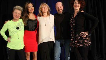 Les conférenciers: Johanne Fontaine, Alexandra Villarroel, Jacqueline Arbogast, Daniel Blouin et Majoly Dion