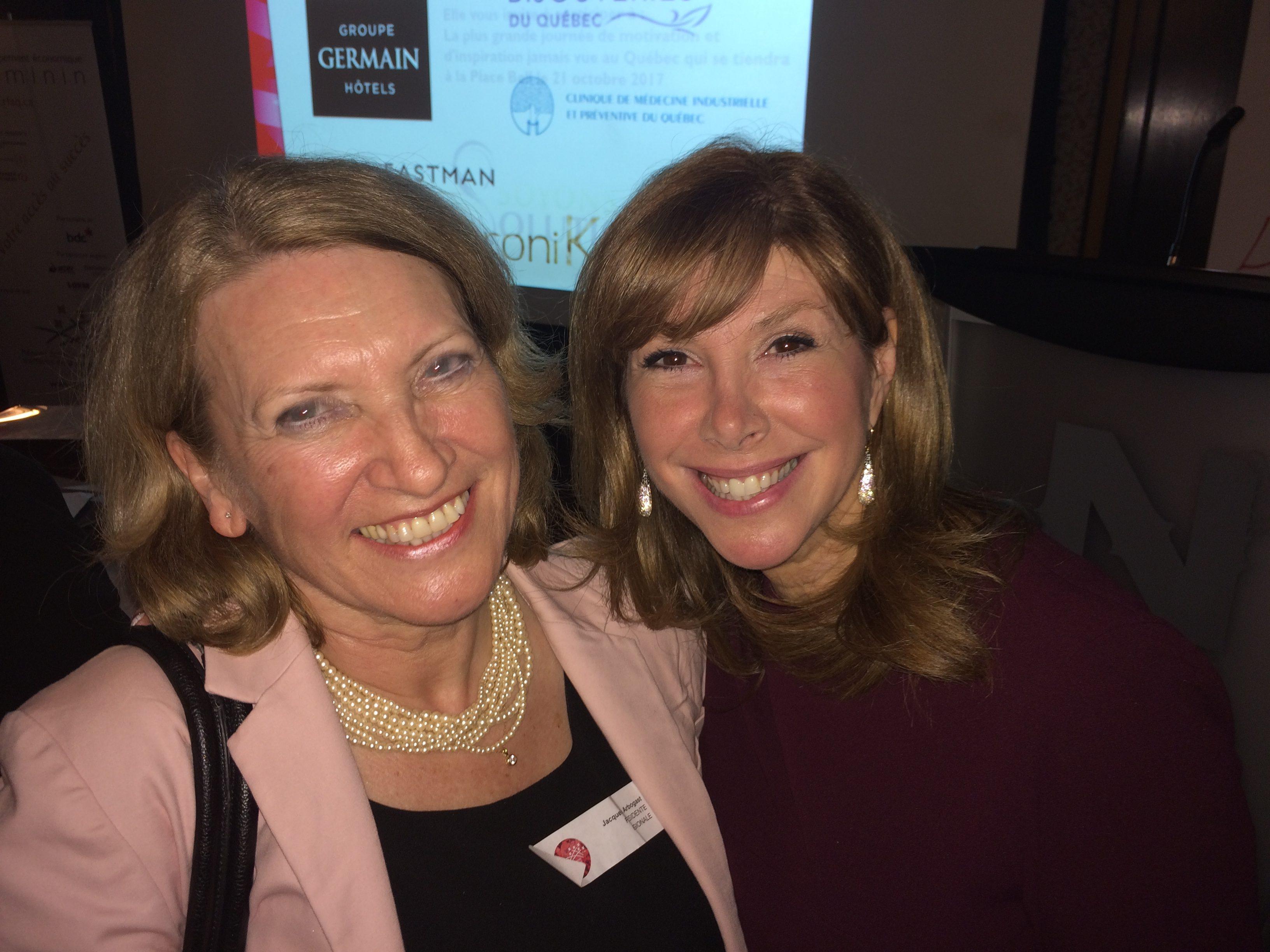 Jacqueline Arbogast et Chantal Lacroix au 35ème anniversaire du RFAQ à Montréal