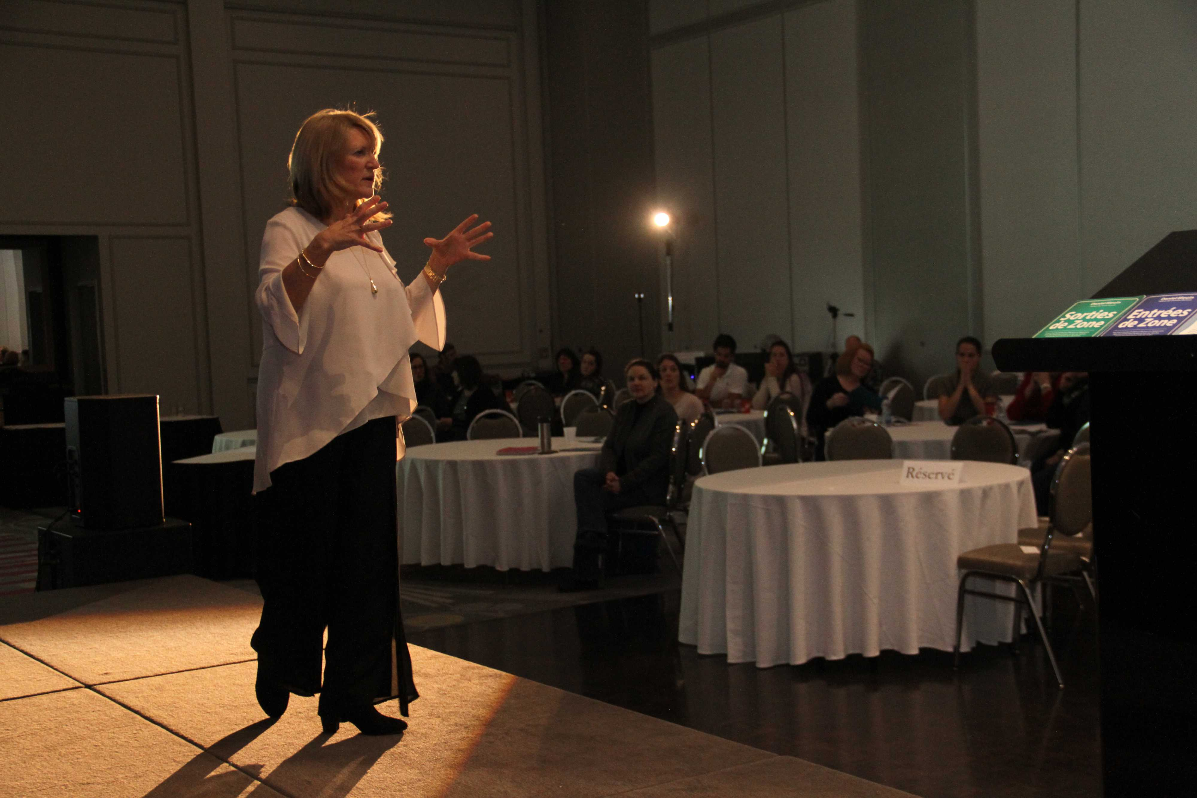 """Jacqueline Arbogast, organisatrice et conférencière à la journée sur """"La résilience ou Comment rebondir dans la vie"""""""